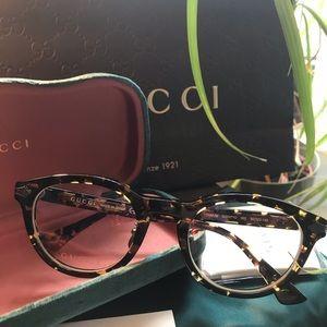 💯% Authentic Gucci titanium/Acetate 50mm glasses